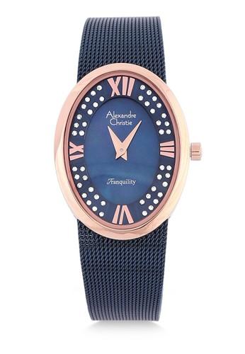 Alexandre Christie blue Alexandre Christie Jam Tangan Wanita - Blue Rosegold - Tali Pasir - 2280 LHBURBU AC423AC3A8170CGS_1