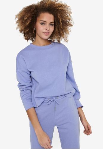 JACQUELINE DE YONG blue Cathrin Life Sweatshirt 8EBDAAACB810DEGS_1