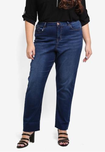 Dorothy Perkins blue Plus Size Midwash Boyfriend Jeans 9F0F6AA5E6E18DGS_1