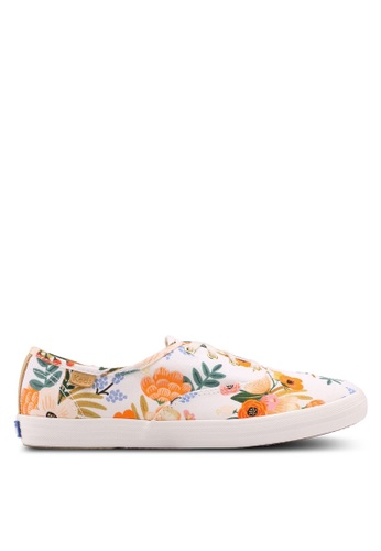 Keds white and multi Champion Rifle Paper Lively Floral Sneakers KE942SH0STFKMY_1