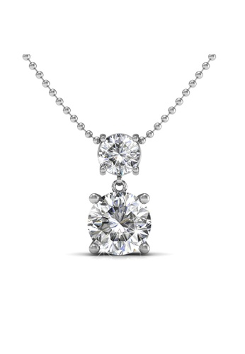 Her Jewellery silver Her Jewellery Jupiter Pendant with Necklace Chain with 18K Gold Plated DE1E2AC5DD0A31GS_1