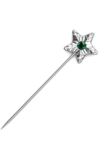 Her Jewellery silver Star Petal Brooch (May)-  Made with premium grade crystals from Austria F7F25ACA5BA8A3GS_1