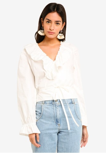 GHOSPELL white Bel Air Blouse C0157AAEC465CDGS_1