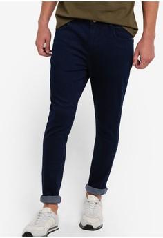 【ZALORA】 水洗窄管牛仔褲