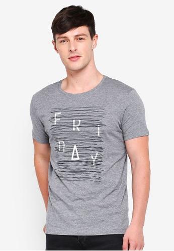 ESPRIT 灰色 短袖T恤 58E0BAAFFDFC37GS_1