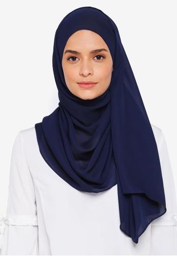 Lubna blue Basic Shawl 682F0AA28F8E54GS_1