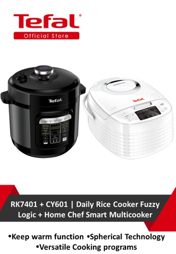 TEFAL Tefal Daily Rice Cooker Fuzzy Logic + Tefal Home Chef Smart Multicooker 6558BHLBCF25A6GS_1