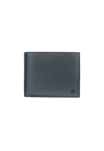 Goldlion blue Wallet in Textured Leather GO578AC0GYEJSG_1