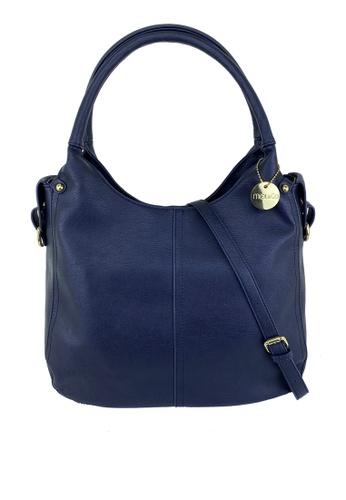 Mel&Co navy Faux Leather Double Handle Bag FB370AC108AF3CGS_1