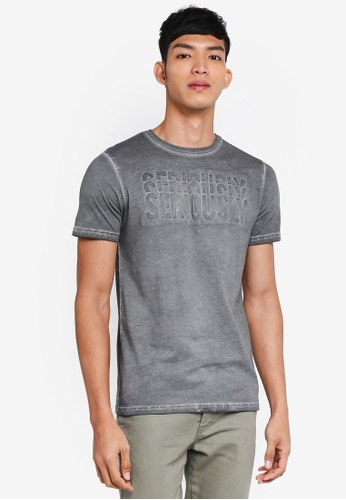 Only & Sons multi Gavin Embossed Short Sleeve Tee DCF40AA98BBF64GS_1