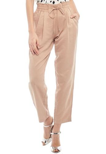 Nichii brown Casual Waist Tie Pants 4E593AA3FB3B6CGS_1