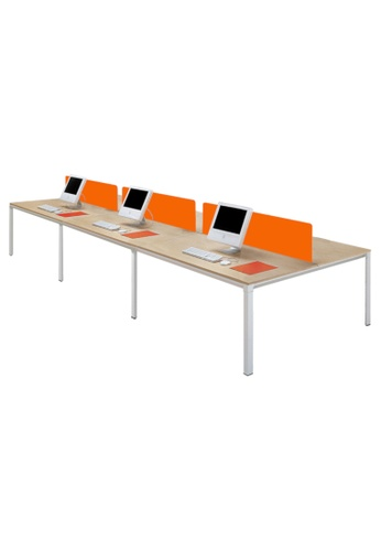 AMERCIS white Amercis Progue Open Plan 1500L Office Table for 6 8F295HL32DB7EFGS_1