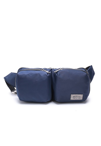 DUSTY blue Multi-functional Compartment Waist Bag F727BAC0C35B56GS_1