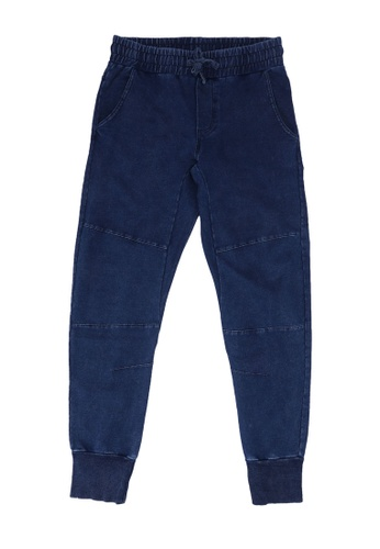 FOX Kids & Baby navy Denim French Terry Jogger Pants 61428KAD2A79F2GS_1