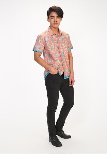 House Of Olsha multi Cotton Batik Shirt - Dian Peach 0E4B8AA42D50EDGS_1