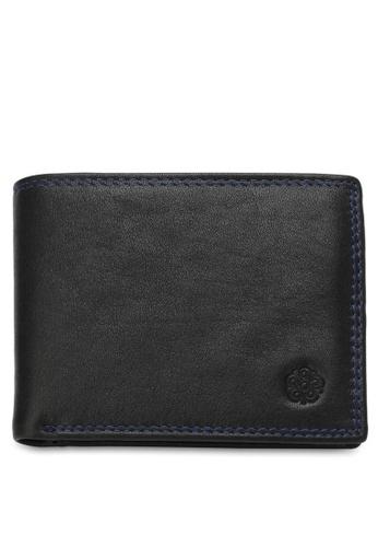 Wild Channel black Men's Genuine Leather RFID Blocking Bi Fold Wallet 863D4AC9B2B5E1GS_1