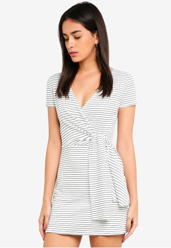 ca2d62022132 Buy MISSGUIDED Striped Tie Side Skater Dress Online | ZALORA Malaysia