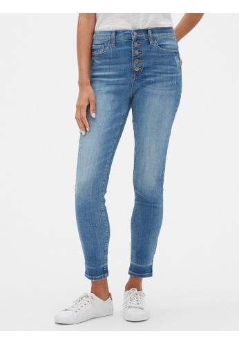 Gap blue High Rise Button- Fly Legging Jeans 5408BAA19CCF0DGS_1