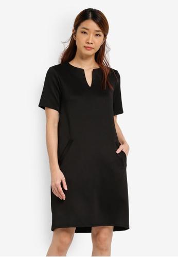Dorothy Perkins black Pocket Shift Dress DO816AA0SJ66MY_1