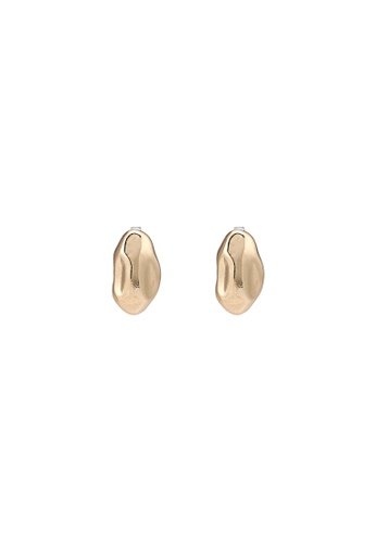 niko and ... gold Textured Earrings A309BAC223AF97GS_1