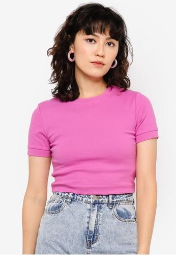 Urban Revivo purple Fashion T-Shirt CA387AA48CC919GS_1