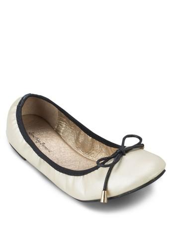 撞色滾邊圓頭平底鞋,zalora 手錶 評價 女鞋, 鞋