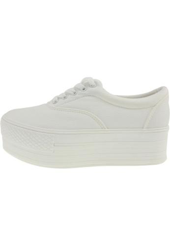 Maxstar 白色 新款韩国鞋C50-5H-TC時尚皮革布混合女白色 US Women Size MA345SH06GSZTW_1