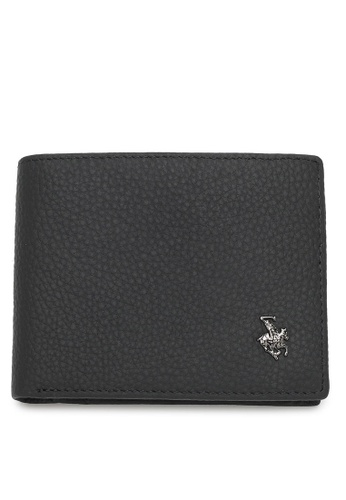 Swiss Polo black Genuine Leather RFID Wallet FD1FDAC9AE3BEFGS_1