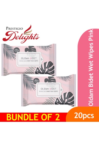 Prestigio Delights black Oldam Bidet Wet Wipes Pink Bundle of 2 DE04FES4D19D70GS_1