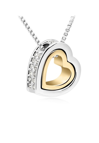 Urban Outlier silver and gold Crystal Necklace 99263 25E77ACC9FB0DCGS_1