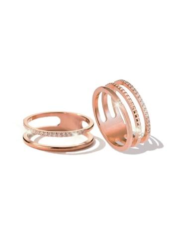 CELOVIS gold CELOVIS - Lottie and Loretta Ring Jewellery Set in Rose Gold 912A7AC929EAD3GS_1