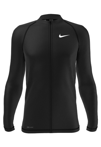 Nike black Nike Swim Men's Long Sleeve Hydroguard - Black 47E1AUS6ABE71FGS_1