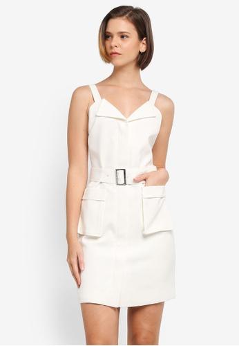 ZALORA white Patch Pocket Detail Dress CE3E0AA739B7B8GS_1