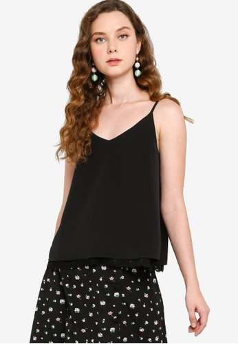 ZALORA YOUNG black Cami Top with Lace Insert 0A479AAD430363GS_1
