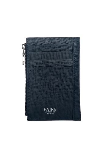 Faire Leather Co. blue and navy Specter CG Card Wallet with Coin Pouch (Navy) - Slim Leather Wallet 9B3CAACF5F6ABAGS_1