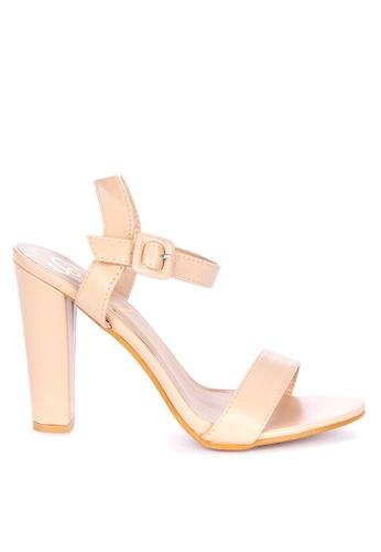 Sofab! beige Louie Block Heels 4C77ESHF730FC8GS_1