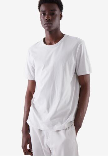 COS grey Regular-Fit Brushed Cotton T-Shirt E0C17AA66F2042GS_1