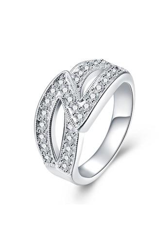 Tiaria white Tiaria Gold Plated Ring Casual Fashion SPCR725-8--K09 7A273AC6B2F467GS_1