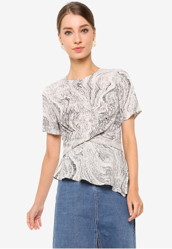 ZALORA WORK multi Asymmetric Hem Top C95F1AACB49EA1GS_1