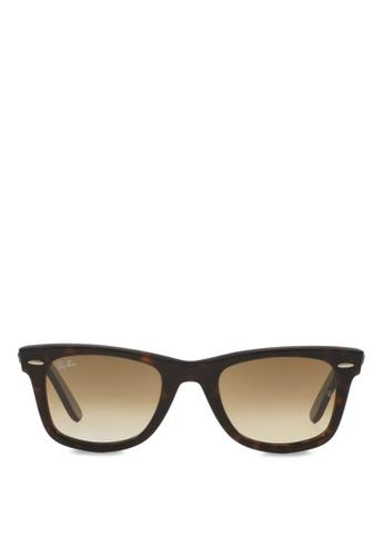 12d4f0f89ee04 Ray-Ban brown Original Wayfarer RB2140 Sunglasses RA370GL70RZDSG 1