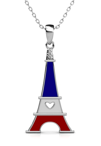 Her Jewellery silver Union Tower Pendant (France) - Made with Premium grade crystals from Austria 18C6FAC2F48DD5GS_1