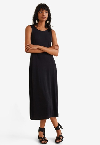MANGO black Flowy Shift Dress A6C47AAD20BF61GS_1