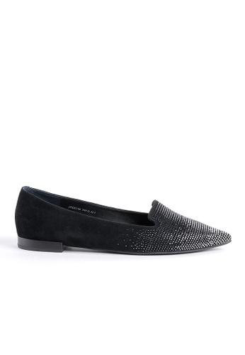 Joy & Peace black Embellished Loafers JO458SH21ZFIHK_1