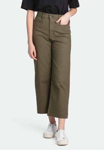 Levi's green Levi's Ribcage Wide Leg Cropped Pants Women 79848-0005 3E966AA9CC118DGS_1