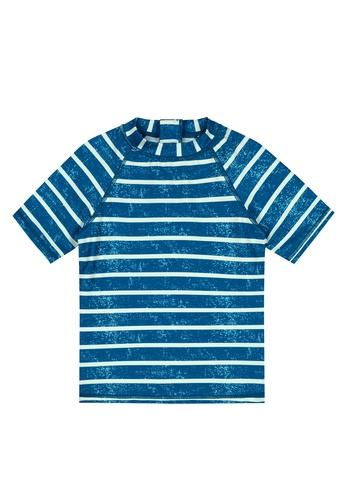 Shiwi blue Fresh Stripe Rash Tee EED77KA15D5B34GS_1