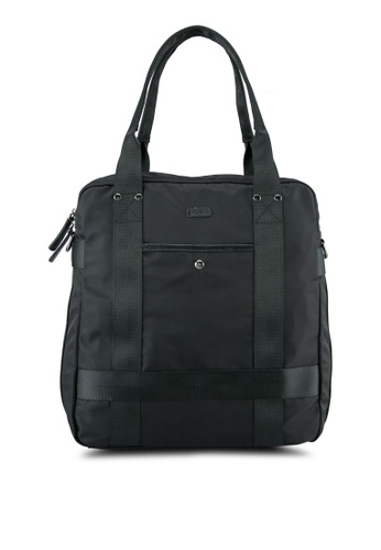 Sparrow Green black Multi Way Carriage Backpack SP065AC0ST5NMY_1