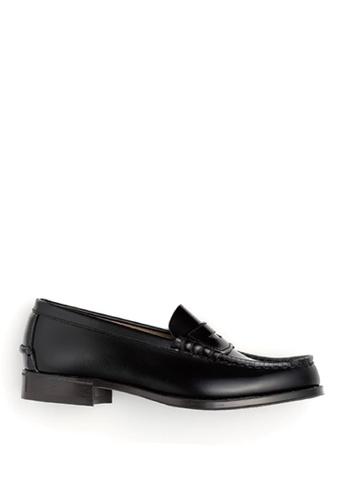 HARUTA 黑色 經典樂福皮鞋-304 72773SHC3DEDB3GS_1