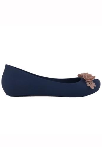 Halo blue Summer Bow Waterproof Flats Shoes 83423SH39E7EE2GS_1