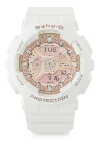Baby-G white Casio BABY-G Jam Tangan Wanita - White Rosegold - Resin - BA-110-7A1DR B5D5EAC296E10AGS_1