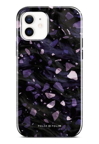 Polar Polar purple Lilac Terrazzo Gem Dual-Layer Tough Case Glossy For iPhone 12 2D835AC7EE1434GS_1